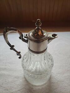 Vintage Silver/Glass Decanter Pitcher