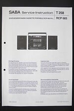 SABA radio cassette RCP 683 PLL service-instruction/Diagram/Wiring Diagram O87