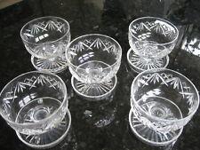 More details for thomas webb crystal dessert sundae dishes x 5 signed lovely