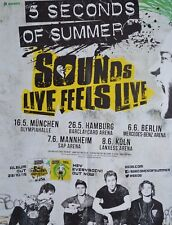 5 SECONDS OF SUMMER - A2 Poster (XL - 42 x 55 cm) - Tour Plakat Clippings NEU