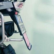 Motorrad Kennzeichenhalter SLIDEREEF mit ausziehbarer Warnbake