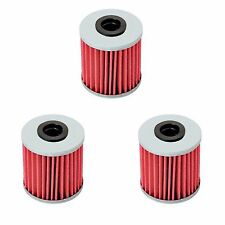 Suzuki RMZ250 RMZ450 RMX450Z KX250F Evo 250 300 4T Oil Filter Filters 3-Pack