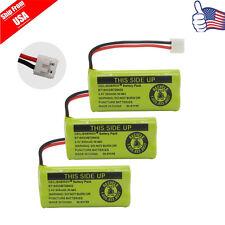 3x Cordless Phone Battery For AT&T BT-8001 BT-8300 Uniden BT101 BT1011 BT1018 US