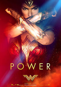 Wonder Woman Poster New Movie 2017 POWER Hit DC Film, FREE P+P, CHOOSE YOUR SIZE