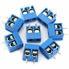 40pcs Blue 2-Pin Screw Terminal Block Connector 5.08mm Pitch Panel PCB Mount DIY