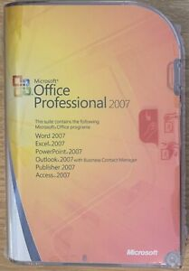 Microsoft Office Professional 2007 includes Outlook Excel Word 269-10342