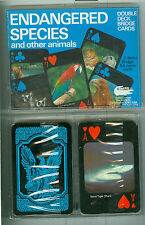 """Double Deck """"Endangered Species"""" Non-Standard Playing Cards by Safari, Australia"""