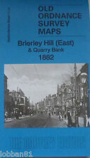 Old Ordnance Survey Map Brierley Hill E & Quarry Bank Staffordshire 1882 S71.07