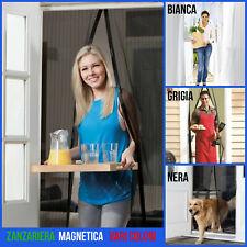 Tenda zanzariera magnetica per porta finestra con calamita moschiera bianca 240