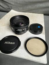 Nikon Nikkor 20mm f/2.8  AF Lens Plus Filter And Caps