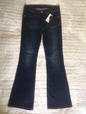 GUESS Slim Fit Flare Leg Navy Jeans, W29 L34, UK 10, BNWT £100