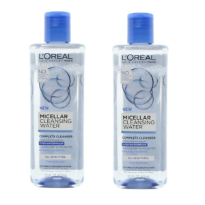 L'Oreal Micellar Water Cleanser Makeup Remover 2 x 400ml All Skin Types