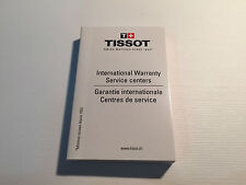 Booklet TISSOT - International Warranty Service Centers - For Watches Relojes