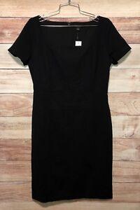 Ann Taylor Women's Black Dress Size 8 Knee Length NWT MSRP $129.00 LBB76