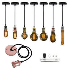Ceiling Rose Fabric Hanging Pendant Lamp E27 Holder Light Fitting Socket Useful