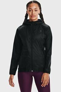 Under Armour Woven Reversible Full Zip Jacket Women's Black Windbreaker Top