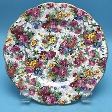 "Royal Albert MARINA 6 1/4 "" B/B PLATE CHINTZ Floral PATTERN Gold Trim MINT"