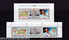 Cook Islands - 1990 Olympics (1st Issue) - U/M - SG 1242-4 + MS1245
