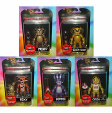"FIVE NIGHTS AT FREDDYS - Set of All 5 - 6"" inch GOLDEN FREDDY FOXY BONNIE CHICA+"