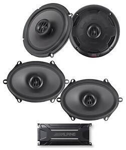 """ALPINE KTA-30FW 600 Watt 4-Channel Amplifier Amp+MTX Thunder 6.5""""+5x7"""" Speakers"""