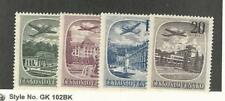 Czechoslovakia, Postage Stamp, #C36-C39 Mint Hinged, 1951 Airplanes