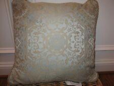 Croscill BELLAVISTA Square decorative pillow NWT Pale Blue gold