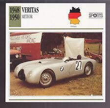 1948-1952 Veritas Meteor BMW 328 Race Car Photo Spec Sheet Info ATLAS CARD