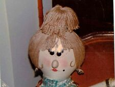 Old Vintage Photograph Adorable Doll's Face / Head