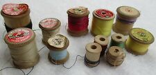VINTAGE WOODEN COTTON REELS - VARIOUS SIZES OF REELS AND COLOURS & MAKERS