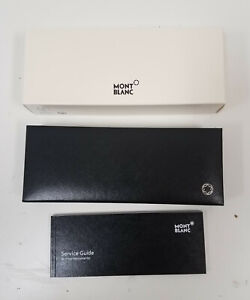 Montblanc Black Empty Single Pen Display Gift Box Case Only  w/ Instructions