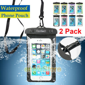 2Waterproof Underwater Swimming Dry Bag Case Cover For iPhone/Samsung/Cell Phone