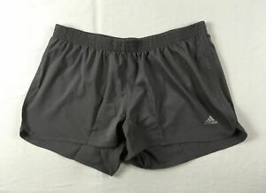 adidas Running Shorts Women's Gray Poly NEW 3XL