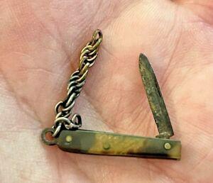 "Antique 19th Century Miniature Pocket Folding Knife, 7/8"""