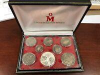 1983 1oz Silver Proof Libertad Coin Set w/ CoA 1 of 998 made RARE SET