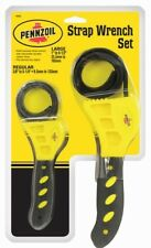 Pennzoil Premium Rubber Strap Wrench Set for Oil Filter for Car Truck Boat Home