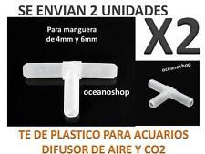 PACK X2 TE ACUARIO Tubo MANGUERA de Aire Oxigenador CO2 bomba difusores plastico