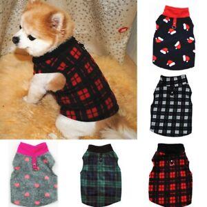 Warm Winter Dog Clothes Soft Fleece Dog Jacket Pet Coat Sweater Puppy Cat Jumper