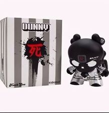 "KIDROBOT 8"" DUNNY HUCK GEE BACK IN BLACK SKULLHEAD DUNNY 8 INCH GOLD LIFE NEW"