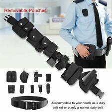 Black Tactical Belt Adjustable Utility Military Sports Belt Gear Pouches Nylon