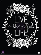 "Prima Marketing 8.5 x 11.25"" stencil, Live a Thankful LIfe #587178"