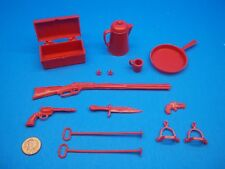 Marx (NEW RED ACCESSORY LOT) Johnny West Best Of The West Cobra Horse Garrett