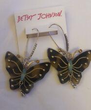 Betsey Johnson Tortoise Shell Butterfly Drop/Dangly Earrings NWT