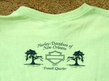 HARLEY DAVIDSON New Orleans French Quarter green t shirt size XS