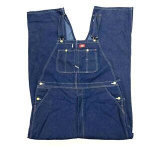 Dickies men's 100% cotton bib denim overalls NWOT Size 40 x 34 adjustable straps