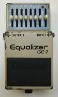BOSS GE-7 Equalizer Guitar Effects Pedal 1990 #207 made in Japan Free Shipping