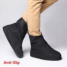 Men's Unisex Reusable Black Rain Boots Waterproof Anti-slip Rain Shoes Cover