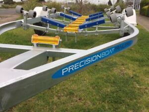 Precision Boat Trailer Drive On Galvanised 5.6mt suit 17ft boat,