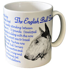 English Bull Terrier- Ceramic Coffee Mug - Dog Origins Breed