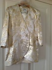 Sierra gold and cream floral evening suit