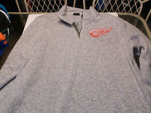 Detroit Red Wings NHL Team apparel 1/4 zip pullover by Adidas XL